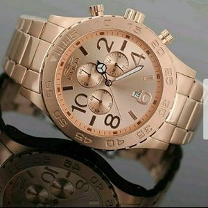 Brand new Invicta rose gold chronograph watch